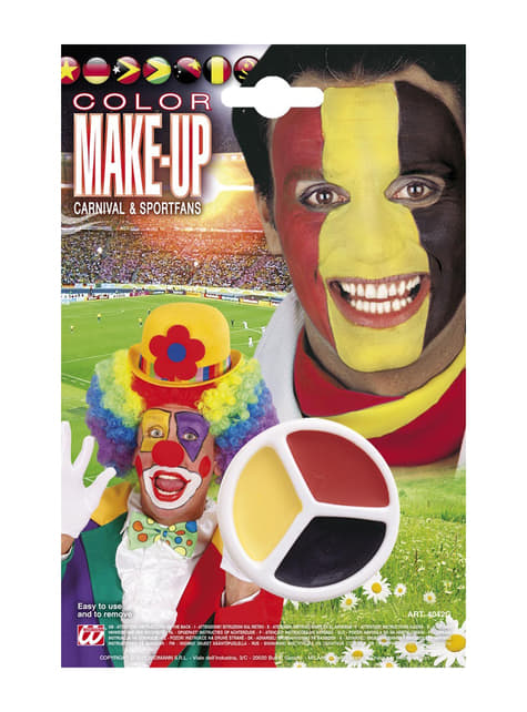 Make-up zwart, geel rood