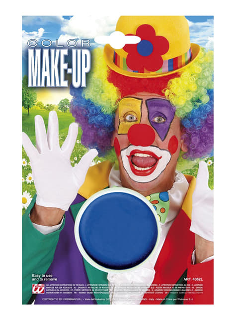 Barevný makeup modrý