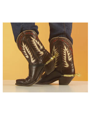 Golden spurs for cowboy shoes