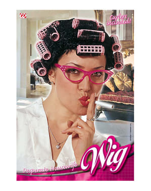 Wig with curlers