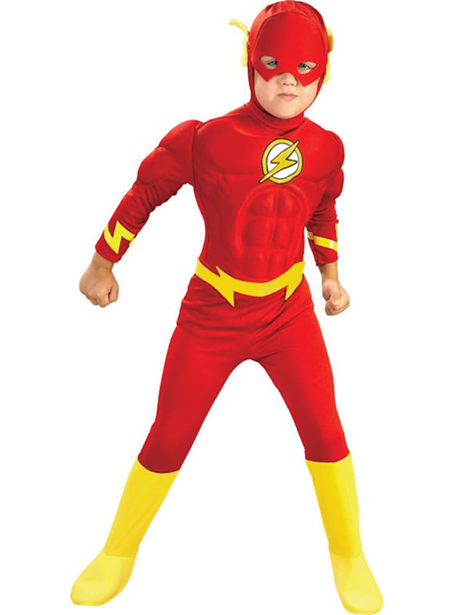 Disfraz de Flash musculoso para niño. Entrega 24h  4dbb4478418