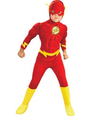 Dětský kostým s vyrýsovanými svaly Flash