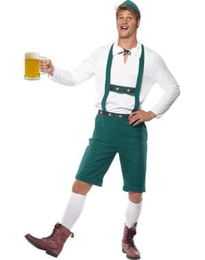 Grünes Lederhosen Kostüm Oktoberfest