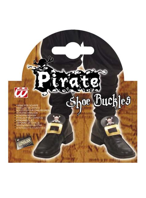Broches zapatos pirata - original
