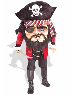 Piratkostume med hoved