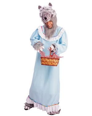 Kostým pro dospělé vlk převlečený za babičku