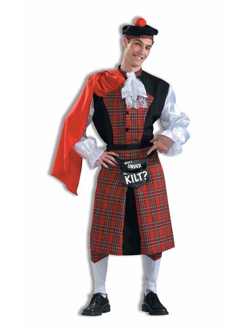 Blikajúci škótsky kostým pre dospelých