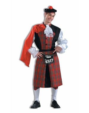 Prangende Skotte kostyme for voksne