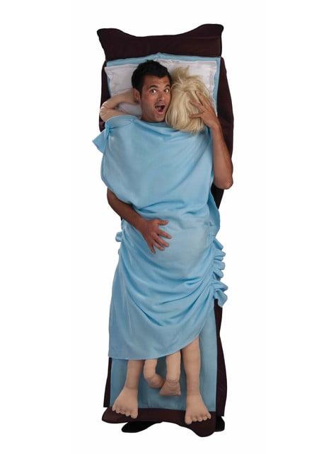 Fato de na cama da orgia