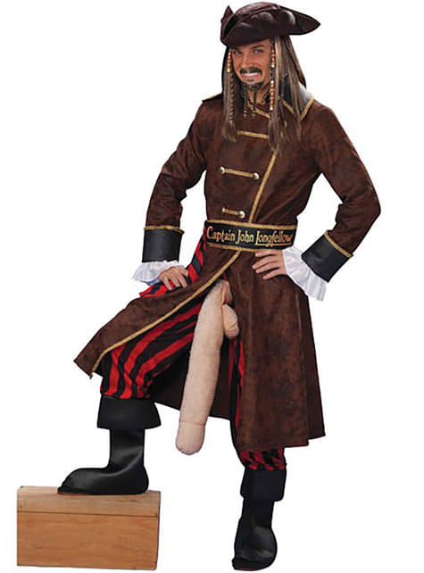 Fato de pirata pata comprida