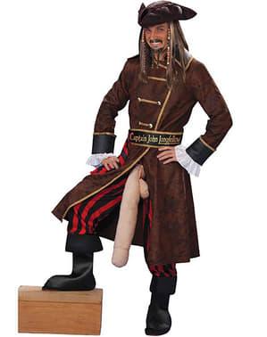 Piraat met het lang been Kostuum