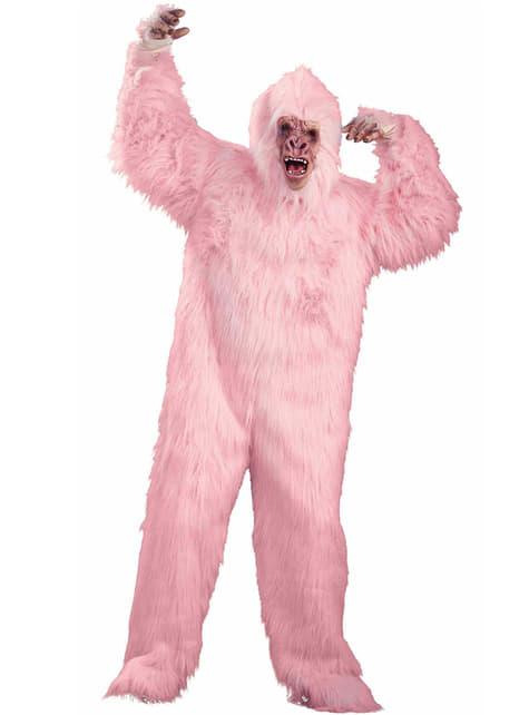 Fato de gorila cor-de-rosa in love