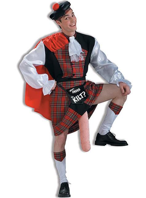 Блискучий шотландський костюм для дорослих