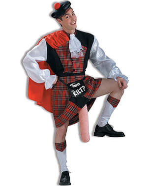 Flashing Scotsman costume for adults