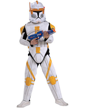 Deluxe Clone Trooper Commander Cody Kids Costume