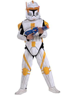Fato de Comandante Cody Clone Trooper Deluxe para menino
