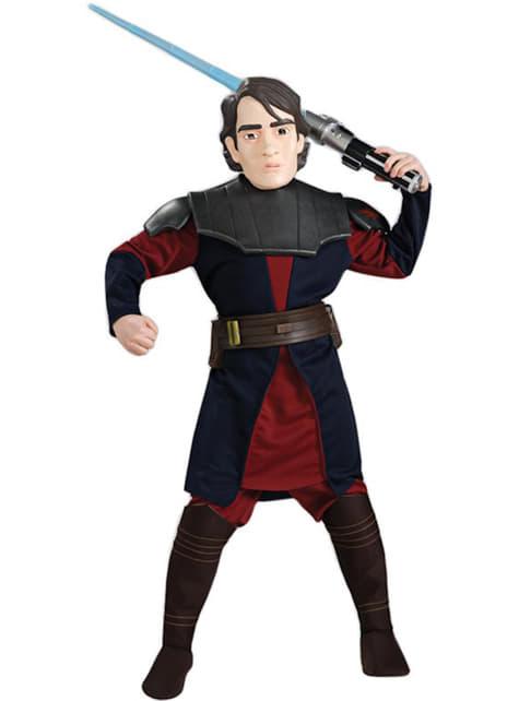 Luksus Anakin Skywalker Barnekostyme med Maske