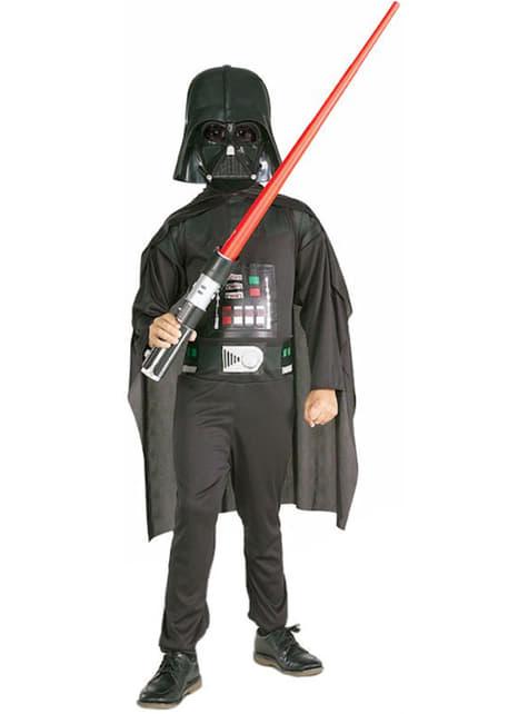 Детски костюм на Дарт Вейдър със светлинен меч