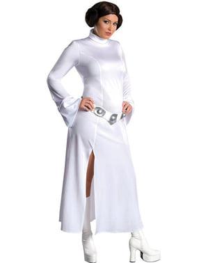 Prinses Leia kostuum grote maat