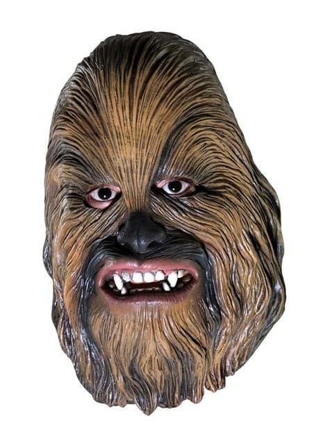 Máscara de Chewbacca para menino 3/4 vinil
