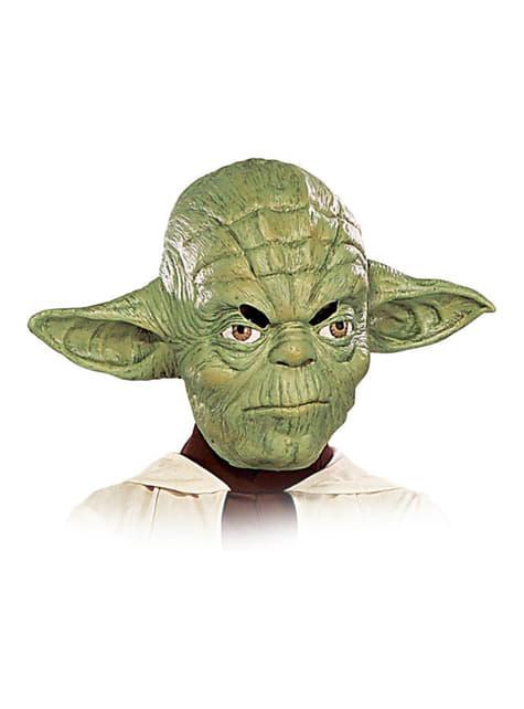 Máscara Yoda para menino 3/4 vinil