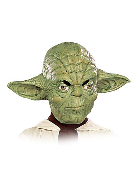 Yoda masker voor jongens van 3/4 vinyl