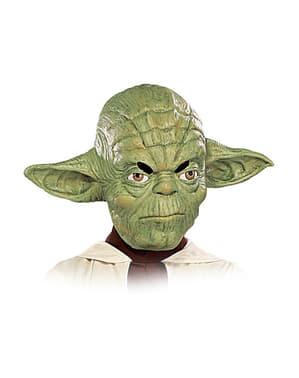 Maschera Yoda bambino 3/4 lattice