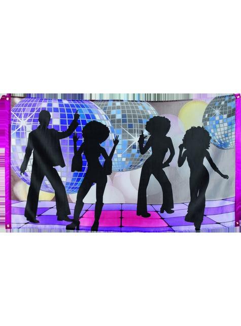 Bandeira música disco - Disco Party - para as tuas festas