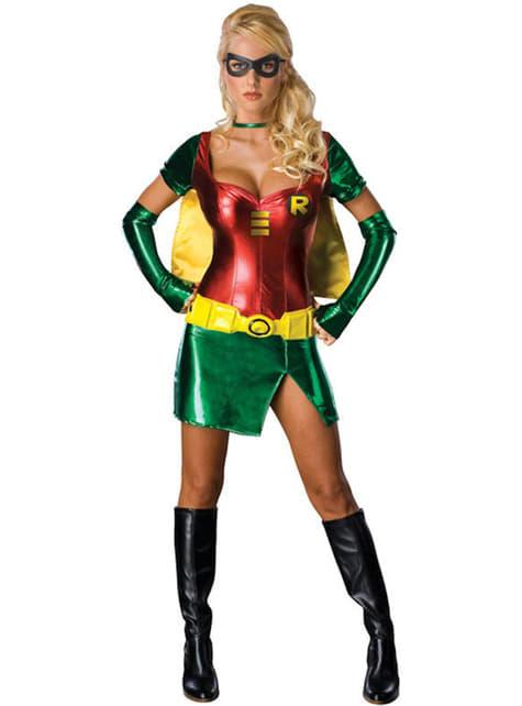 Dámský kostým sexy superhrdinka Robin