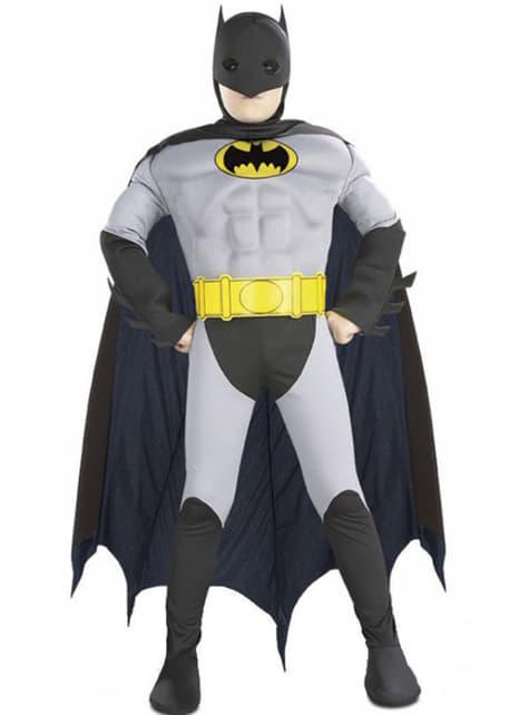 Fato de Batman musculoso para menino