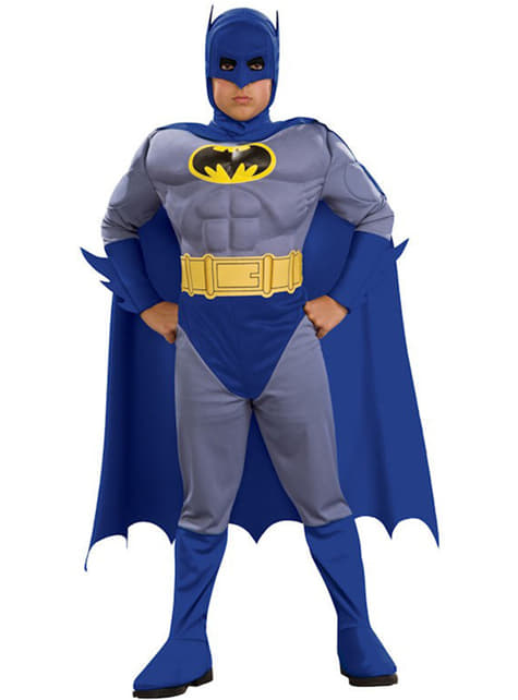 Jungenkostüm Batman the Brave and the Bold mit Muskeln
