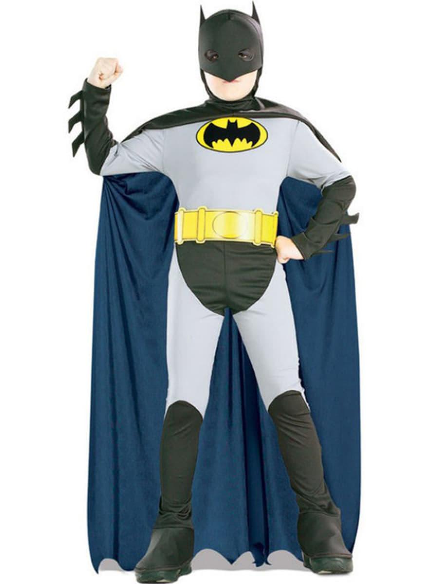 Costume da batman cartone animato bambino