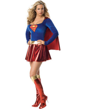 Sexy Supergirl Hero Adult Costume