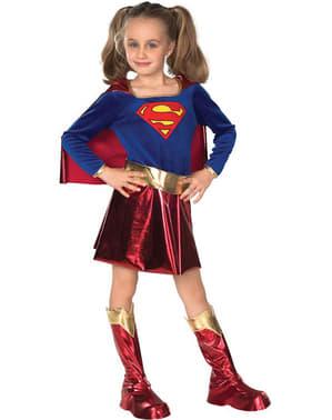 Supergirl deluxe kostume til piger