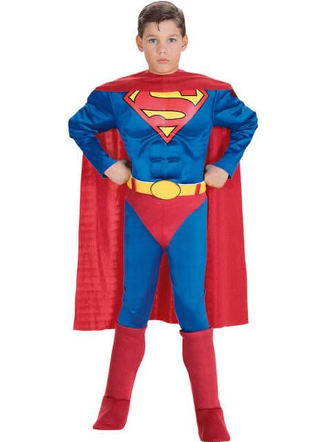 Muscular Superman Kids Costume