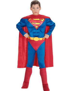 Muscular Superman Kids Costume