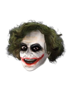 3/4 Vinyl Maske av The Joker med Parykk