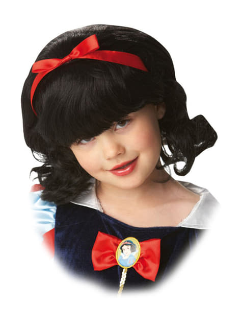 Peluca Blancanieves para niña