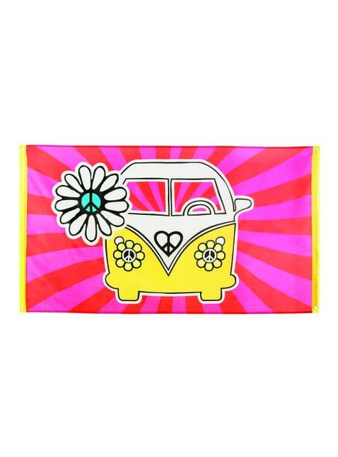 Banderole hippie années 60