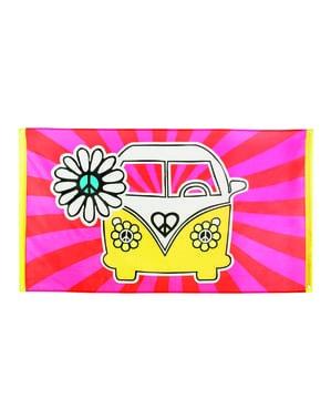Hippie fra 60'erne flag