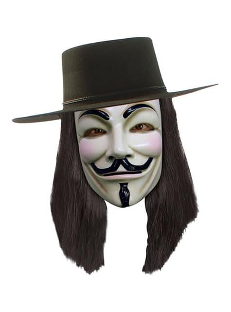 Paruka V jako Vendeta černá