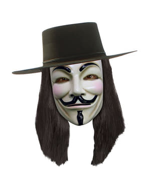 V for vendetta wig in black