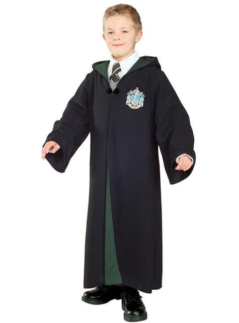 Slytherin robe kostume deluxe til drenge - Harry Potter