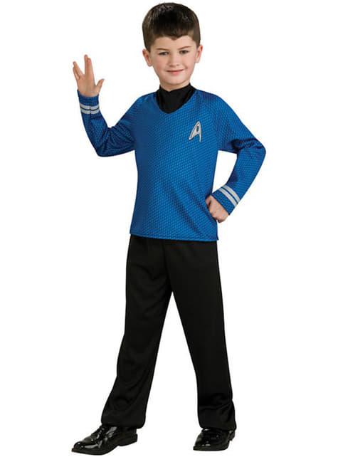 Costume Star Trek Spock blu da bambino
