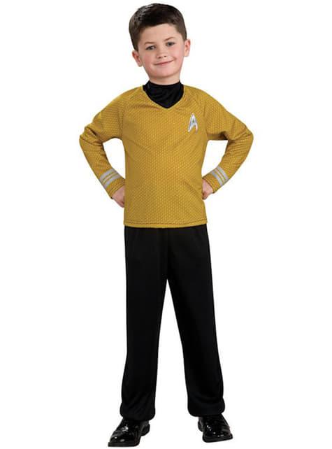 Fato de Star Trek de Capitão Kirk dourado para menino