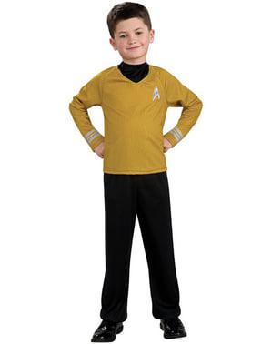 Disfraz de Star Trek Capitán Kirk dorado niño
