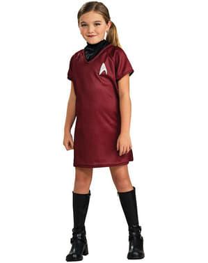 Disfraz de Star Trek Uhura rojo niña