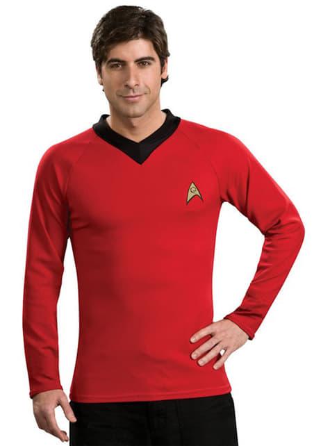 Klassinen punainen Scotty Star Trek aikuisten asu