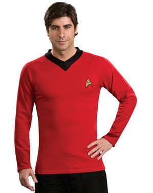 Strój Star Trek Scotty czerwony klasyczny