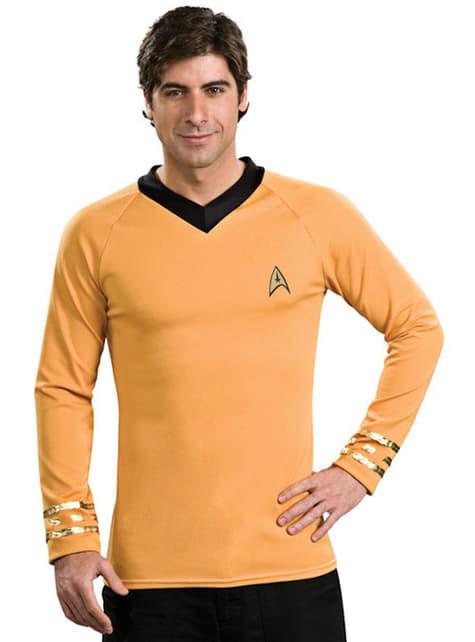 Klassinen kultainen kapteeni Kirk Star Trek aikuisten asu